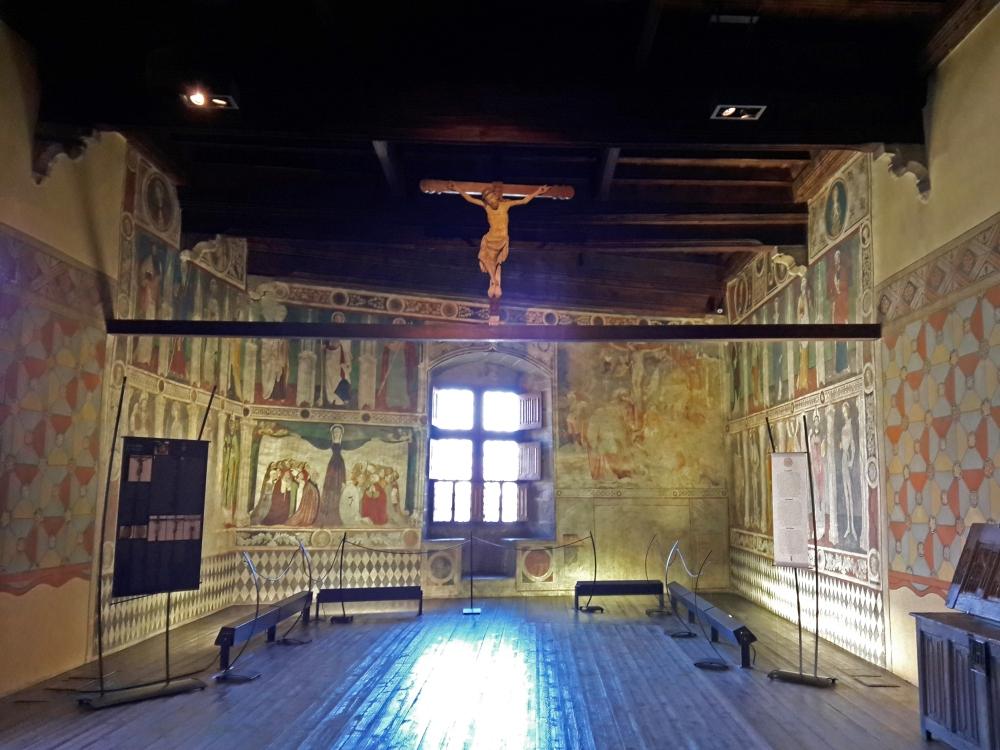 affreschi cappella Castello di Fénis Aosta