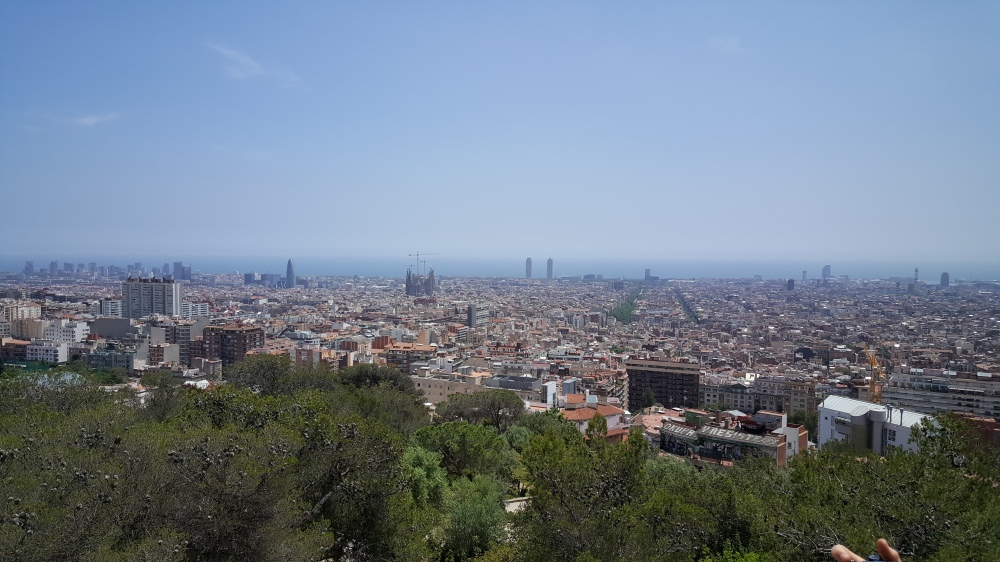Park Guell vista panorama di Barcellona