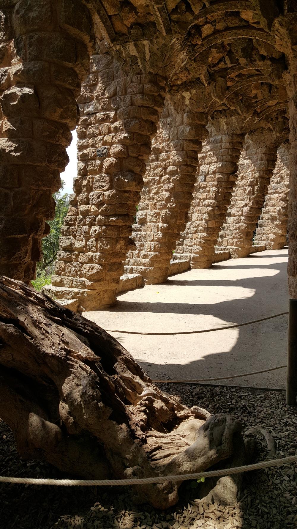 Park Guell Portico Gaudi Barcellona