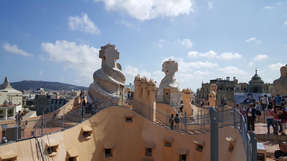Casa Mila La Pedrera Terrazzo Gaudi Barcellona Spagna