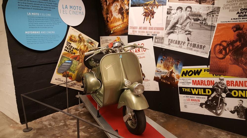 Vespa nel Museo della Moto Barcellona Spagna