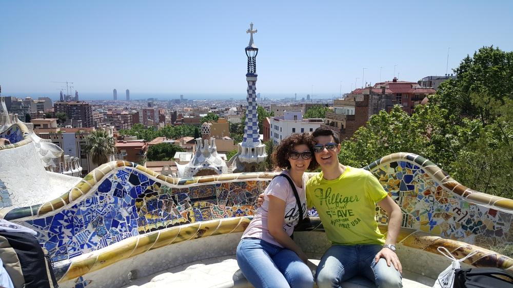 Piazza della Natura Park Guell Barcellona Gaudì