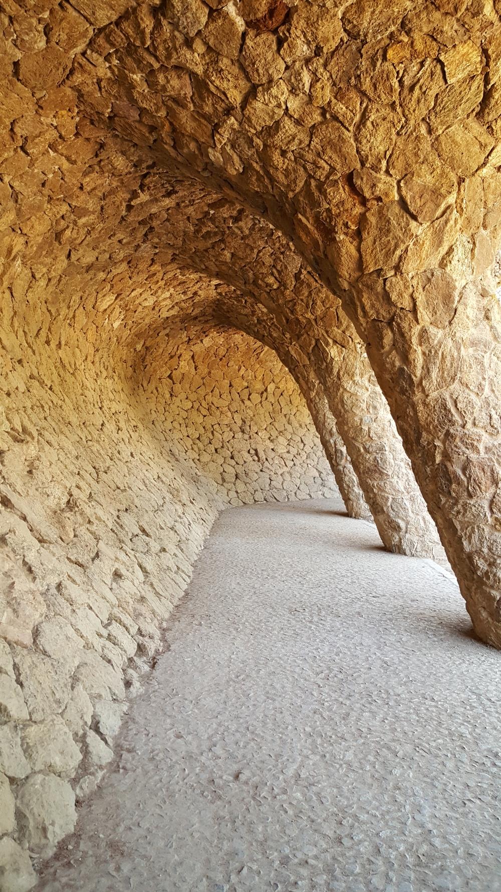 Park Guell Portico della Lavandaia Barcellona Spagna
