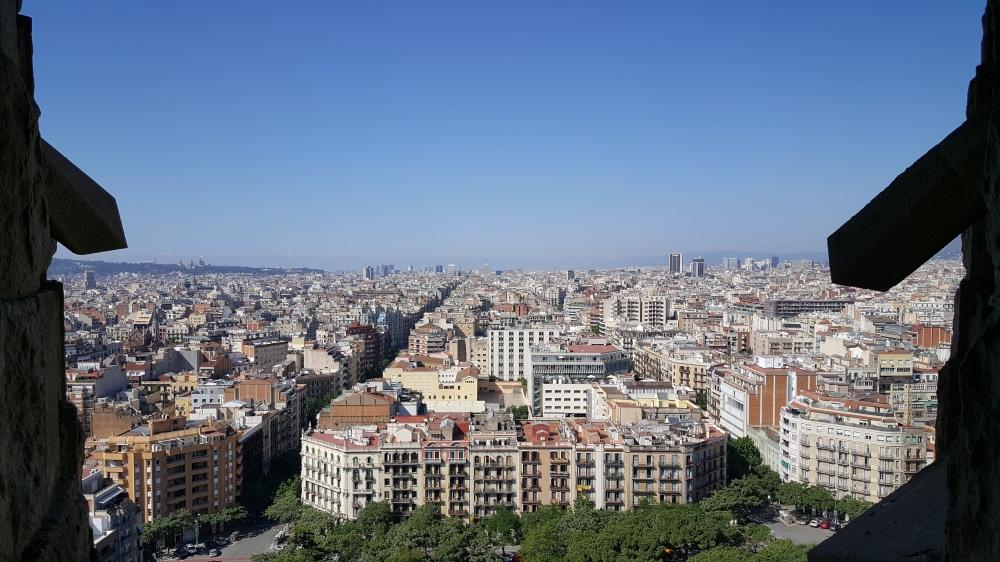 Panorama dalla Sagrada Familia Barcellona Spagna