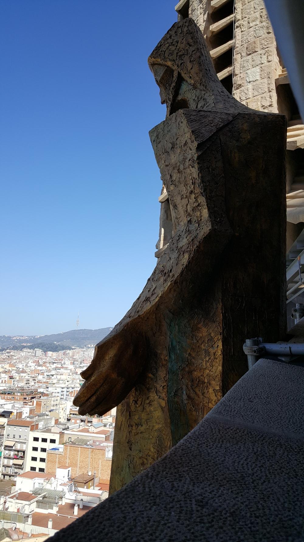 Torre della Passione Sagrada Familia Barcellona Spagna