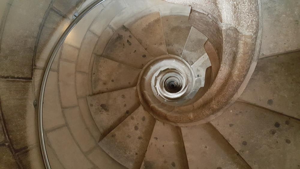 Scala a chiocciola Torre della Passione Sagrada Familia Barcellona
