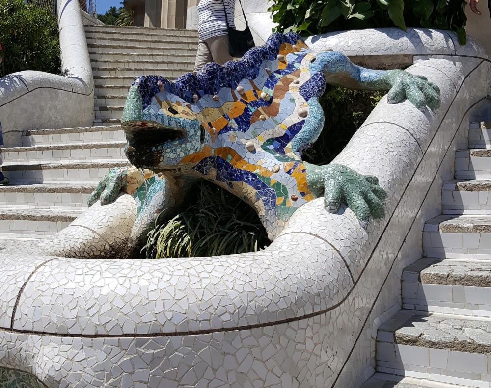 Park Guell Salamandra Gaudì Barcellona Spagna