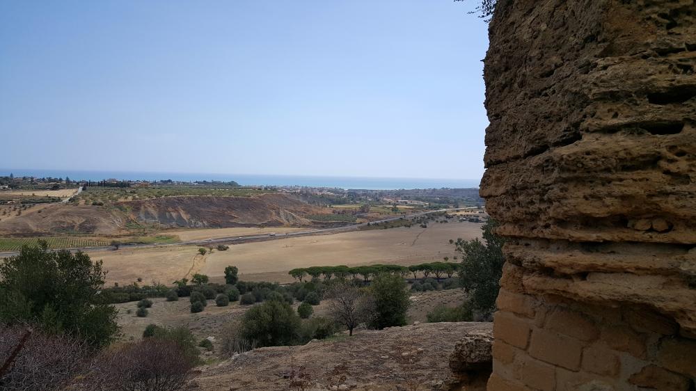 Panorama-Mura di Fortificazione-Resti archeologici-Valle dei Templi-Agrigento-Sicilia