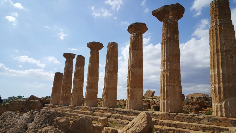 Tempio di Eracle-Valle dei Templi-Parco archeologico-Sicilia
