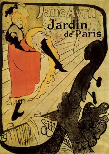 Jane Avril-Henry de Toulouse Lautrec-Belle epoque-bohemien-Parigi-mostra-Palazzo Chiablese
