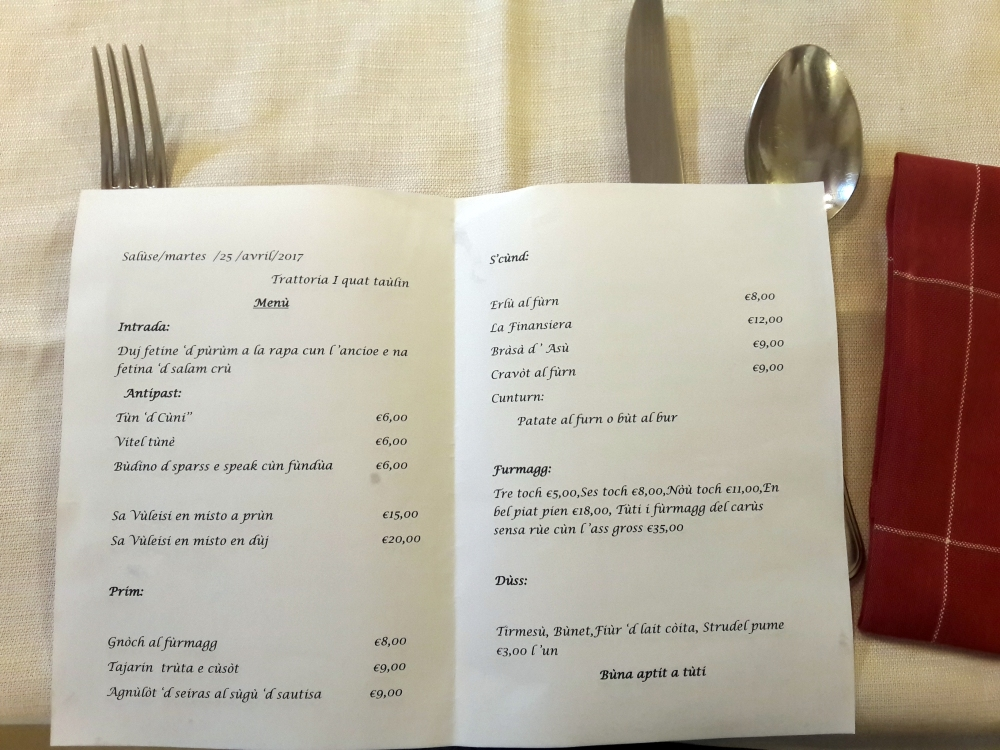 I Quat Taulin-menu-Cibo piemontese-Piemonte-Cuneo-Saluzzo-Prodotti tipici piemontesi