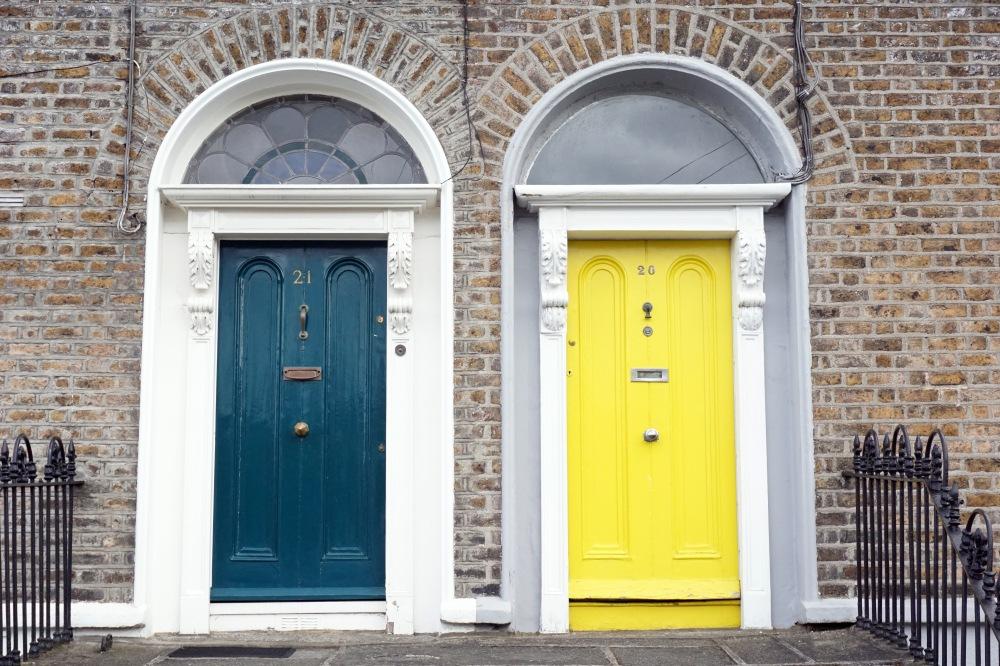 Porte colorate-Dublino-Irlanda-Architettura-Viaggio in Irlanda-Viaggiare