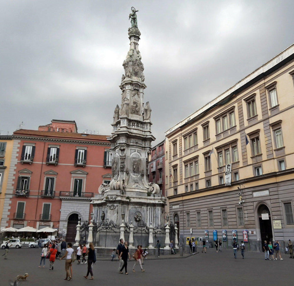 Piazza del Gesù Nuovo-Piazze di Napoli-Architettura-Architettura barocca-Barocco-Cosa vedere a Napoli-Museo a cielo aperto-Viaggio a Napoli-Visitare Napoli