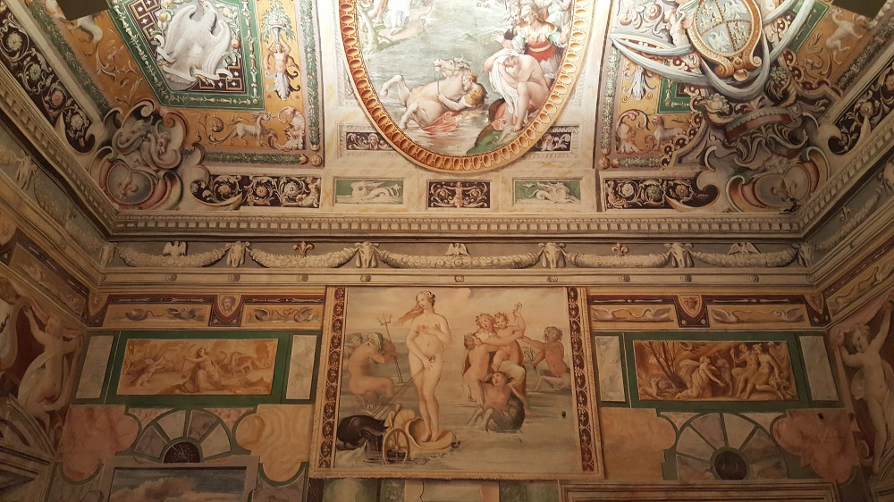 Seconda Sala Tiburtina-Villa d'Este-Tivoli-Affreschi-Villa Rinascimentale
