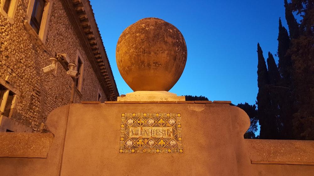 Villa d'Este-Villa Rinascimentale-targa-Tivoli
